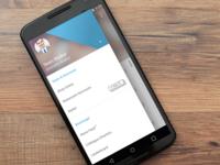 Workangel - Android menu