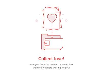Favourites Retailer Empty Data favourites illustration empty state empty data placeholder error folder paper