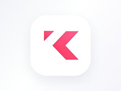 Kastr Icon-  Light minimal light k ios negative logo app icon