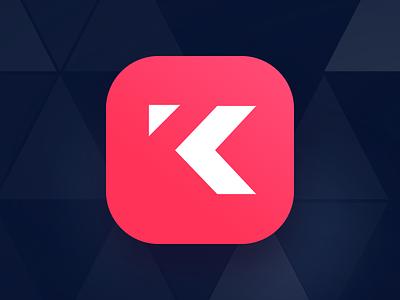 Kastr Icon-Dark minimal light k ios negative logo app icon
