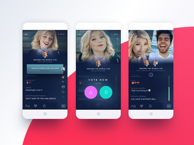 Kastr View Interactive Live ios video poll vote real time interaction live stream broadcast chat live