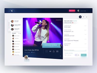 Kastr Live - Desktop viewer video chat angle video player landing page web live