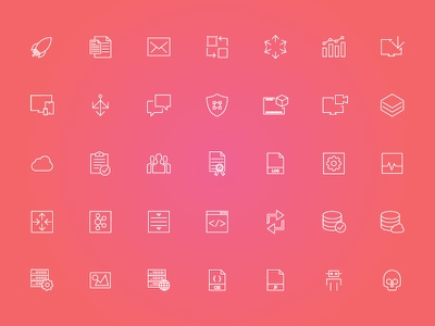 Icons for web app cdn browser web user experience user interface ux ui interface interaction design icon illustration design