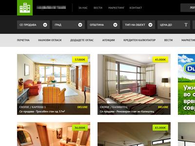 Real estate website - WIP