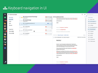 Experimental keyboard navigation