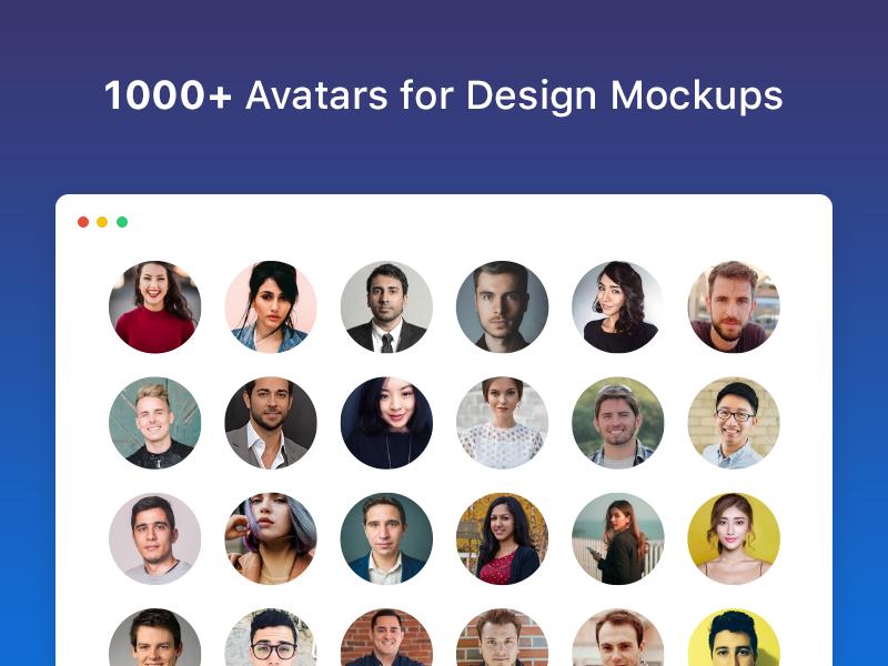 UI Faces ui faces resource free mockup people user api sketch avatar face ui