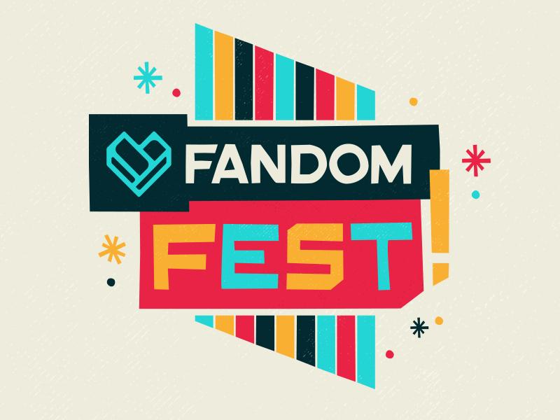 FANDOM Fest Identity logo design logo brand identity brand comic con pop culture fandom