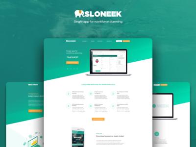 #Sloneek Landing Page Webdesign