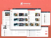 #Konverzy Web Application Design