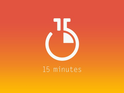 15 minutes identity  logo app timer 15 personal project