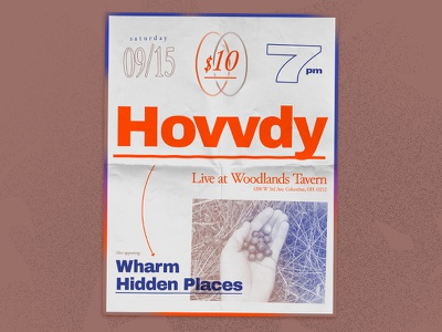 Hovvdy flyer diy bands hidden places wharm columbus flyer hovvdy