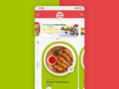 Rework Dapur Umami Mobile App minimal flat ui design trending uiinspirations uidesign figmadesign figma mobile app