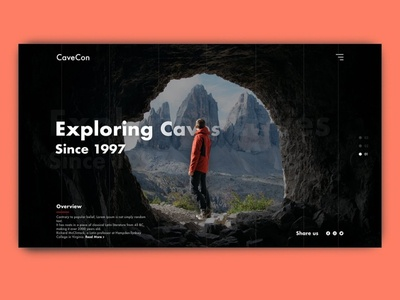 CaveCon Website Design web ui design