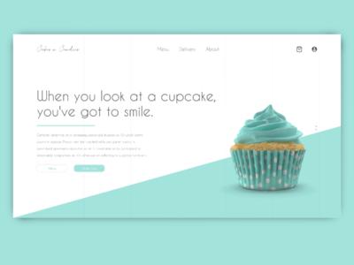 Cupcake Store website minimal typography ux branding webdesign landingpage web ui design