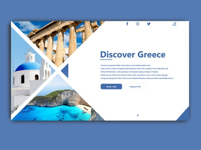 Discover Greece travel greece website minimal webdesign landingpage web ui design