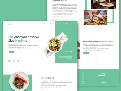 Organic Restaurant Homepage website design restaurant website restaurant website webdesign web ui design