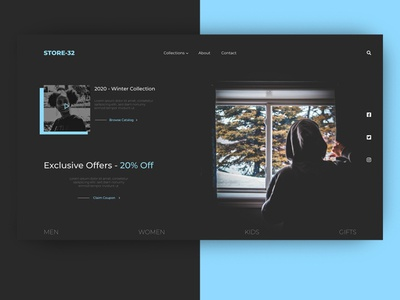 Hoodies e-shop Design website design uxui ui webdesign website web landingpage landing design e-commerce design e-commerce e-shop