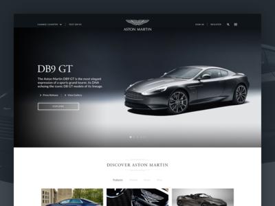 Aston Martin - Website website uiux db9 gt aston martin