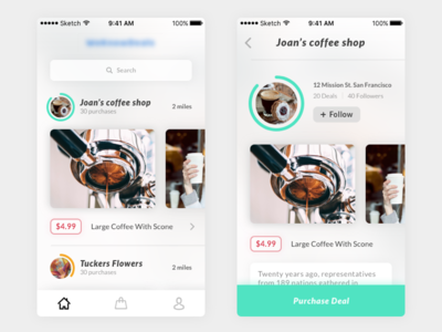 E-commerce app medical center odessa ukraine super clean ecommerce app coffee ios ux