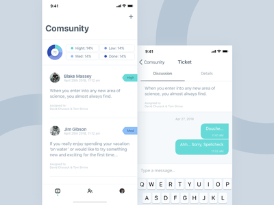 Comsunity - app odessa ukraine 2018 icons mobile uiux clean priority chat conversation white