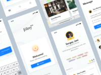 Joiny (bizz) – the app clean uiux events partners business lunch joiny