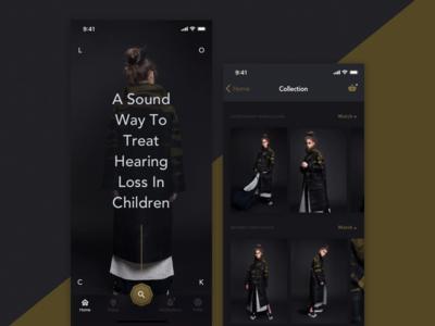Fashion App gold mobile design ukraine odessa dark app uiux fashion