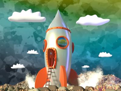 3d rocket on strange plannet