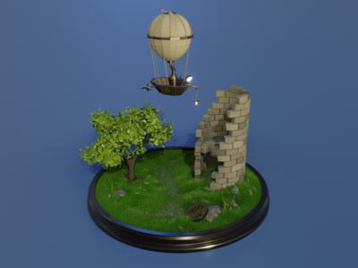 Balloon diorama
