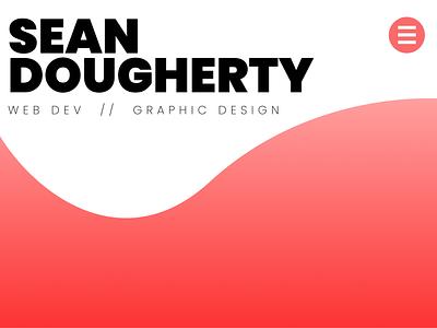 Landing Page for personal portfolio site web ui project mockup minimal branding design