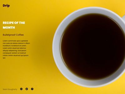 Coffee Shop // Drip // The Roasting Boys Los Angeles website restaurant web ui project mockup minimal logo branding design