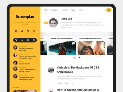 Screenplan WordPress Theme blog wordpress responsive