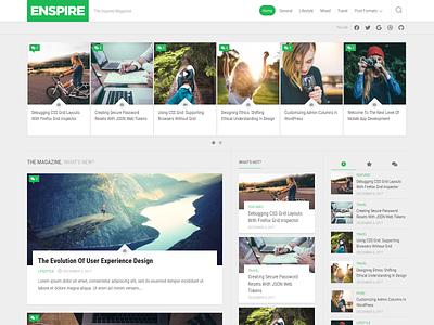 Enspire WordPress Theme magazine wordpress theme free blog wordpress responsive
