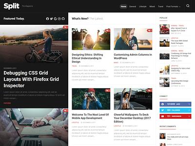 Split WordPress Theme magazine wordpress theme blog wordpress responsive