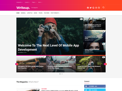 Writeup WordPress Theme magazine wordpress theme blog wordpress responsive