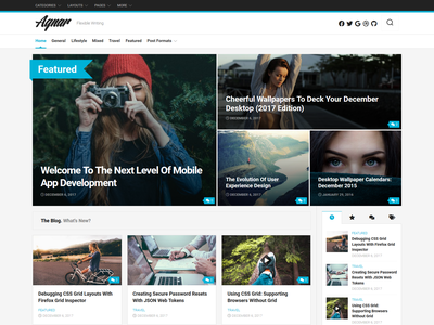 Agnar WordPress Theme magazine wordpress theme blog wordpress responsive