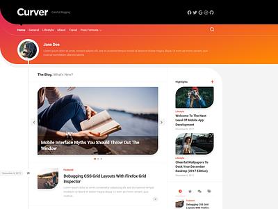 Curver WordPress Theme magazine free wordpress theme blog wordpress responsive