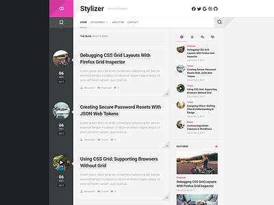 Stylizer WordPress Theme free wordpress theme blog wordpress responsive