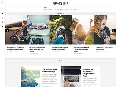 Readline WordPress Theme magazine free wordpress theme blog wordpress responsive