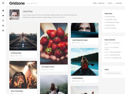 Gridzone WordPress Theme portfolio free wordpress theme wordpress responsive