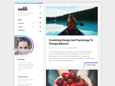 Indite WordPress Theme free wordpress theme blog wordpress responsive