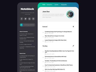 Noteblock WordPress Theme wordpress theme blog wordpress responsive