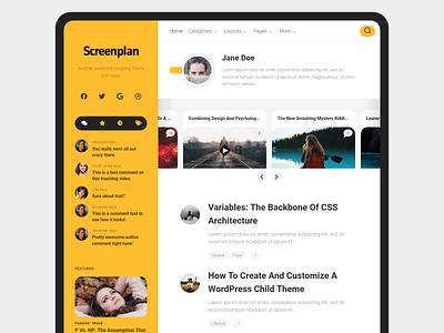 Screenplan WordPress Theme wordpress theme blog wordpress responsive