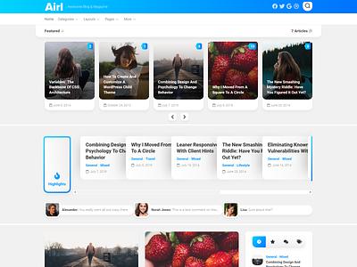 Airl WordPress Theme magazine wordpress theme blog wordpress responsive