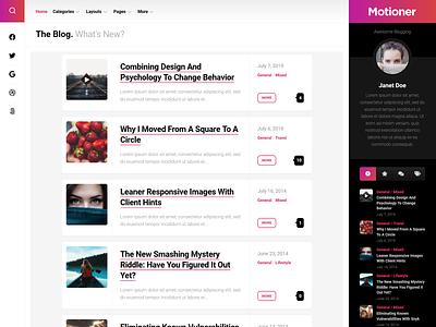 Motioner WordPress Theme free blog wordpress theme wordpress responsive
