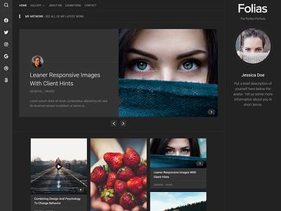 Folias WordPress Theme portfolio wordpress theme blog wordpress responsive