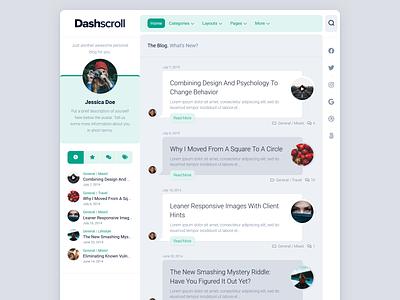 Dashscroll WordPress Theme free wordpress theme blog wordpress responsive