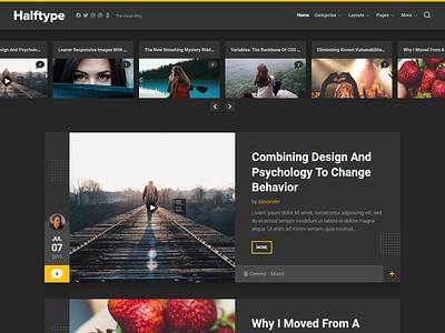 Halftype WordPress Theme magazine wordpress theme blog wordpress responsive