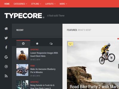 Typecore - Free Responsive Magazine Theme free magazine responsive wordpress