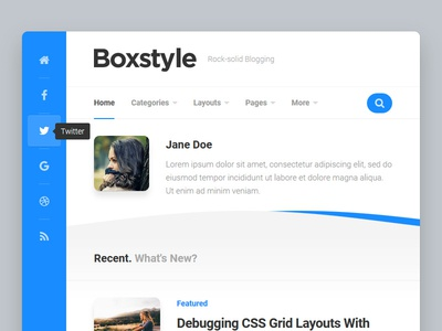 Boxstyle WordPress Theme blog wordpress responsive free