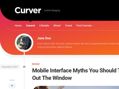 Curver WordPress Theme blog wordpress responsive free